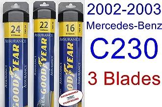 2002-2003 Mercedes-Benz C230 Replacement Wiper Blade Set/Kit (Set of 3 Blades) (Goodyear Wiper Blades-Assurance)