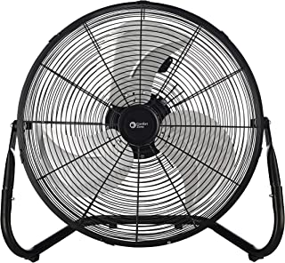 Comfort Zone CZHV18B Quiet 18-inch 3-Speed High-Velocity Fan with Adjustable Tilt