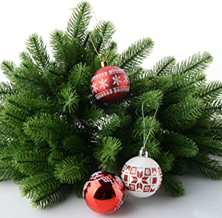 Trooki Artificial Pine Tree Branches Plastic Pine Leaves for Christmas Party Decoration Faux Foliage Fake Flower DIY Craft Wreath 50Pcs