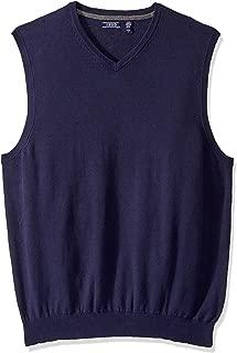 Men's Big and Tall Premium Essentials Solid V-Neck 12 Gauge Sweater Vest
