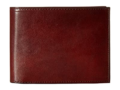 Bosca Old Leather Collection Continental ID Wallet (Dark Brown Leather) Bi-fold Wallet