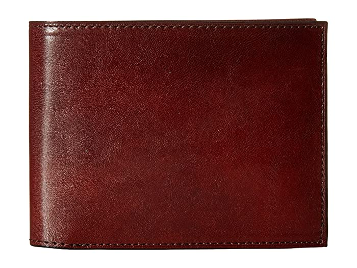 Bosca  Old Leather Collection - Continental ID Wallet (Dark Brown Leather) Bi-fold Wallet