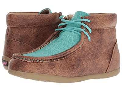 M&F Western Kids Mia (Toddler/Little Kid) (Tan/Turquoise) Cowboy Boots