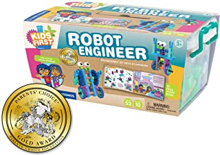 Thames and Kosmos | 567009 | Kids First Robot Engineer | Engineering Kit with A Storybook | 53 Pieces | 10 Different Model...