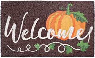 Fall Pumpkin Welcome Doormat Autumn Indoor Outdoor Entrance Home Front Porch Rugs Thanksgiving Housewarming Greetings Gift...