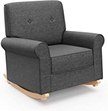 Graco Harper Tufted Rocker, Night Sky Cleanable Upholstered Nursery Rocking Chair, Converts to Stationary Armchair