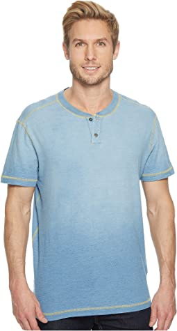 Durban Short Sleeve Three-Button Henley