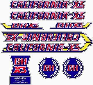 Kit de adhesivos motos clasicas BH California X3 - Juego Pegatinas ...