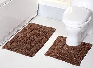 RT Designers Collection Avani 2-Piece Cotton Bath Mat Set in Mocha