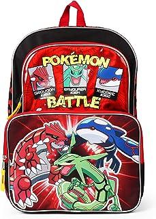 Pokemon Multi Character Backpack for Boys - 16 Inch - School Bag for Elementary School