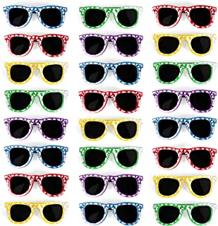 Bulk Kids Hibiscus UV Protected Sunglasses Party Favors - Favorite Luau Party and Pool Party Favors- Bulk Party Set of 25