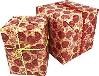 Funny Pizza Gift Wrap Paper 3 sheets, 27x39""
