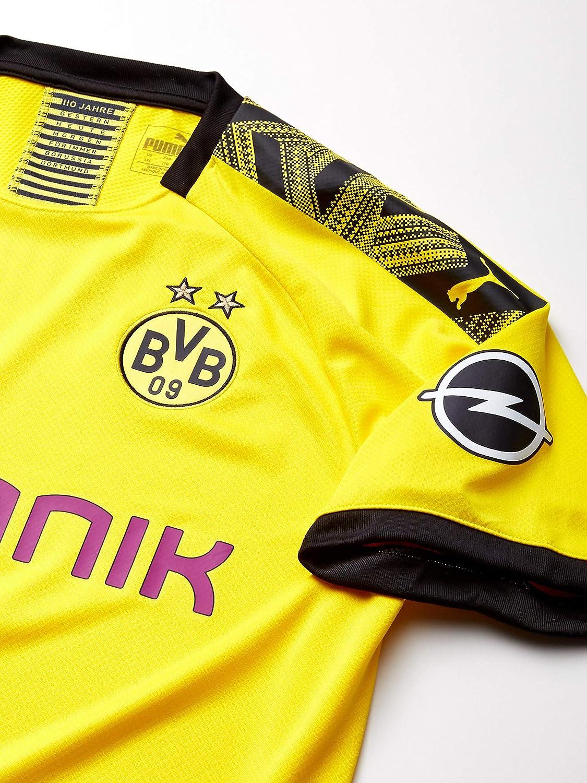 PUMA 1a Equipación 19/20 Borussia Dortmund Replica con Evonik Logo con Opel Logo Maillot Hombre
