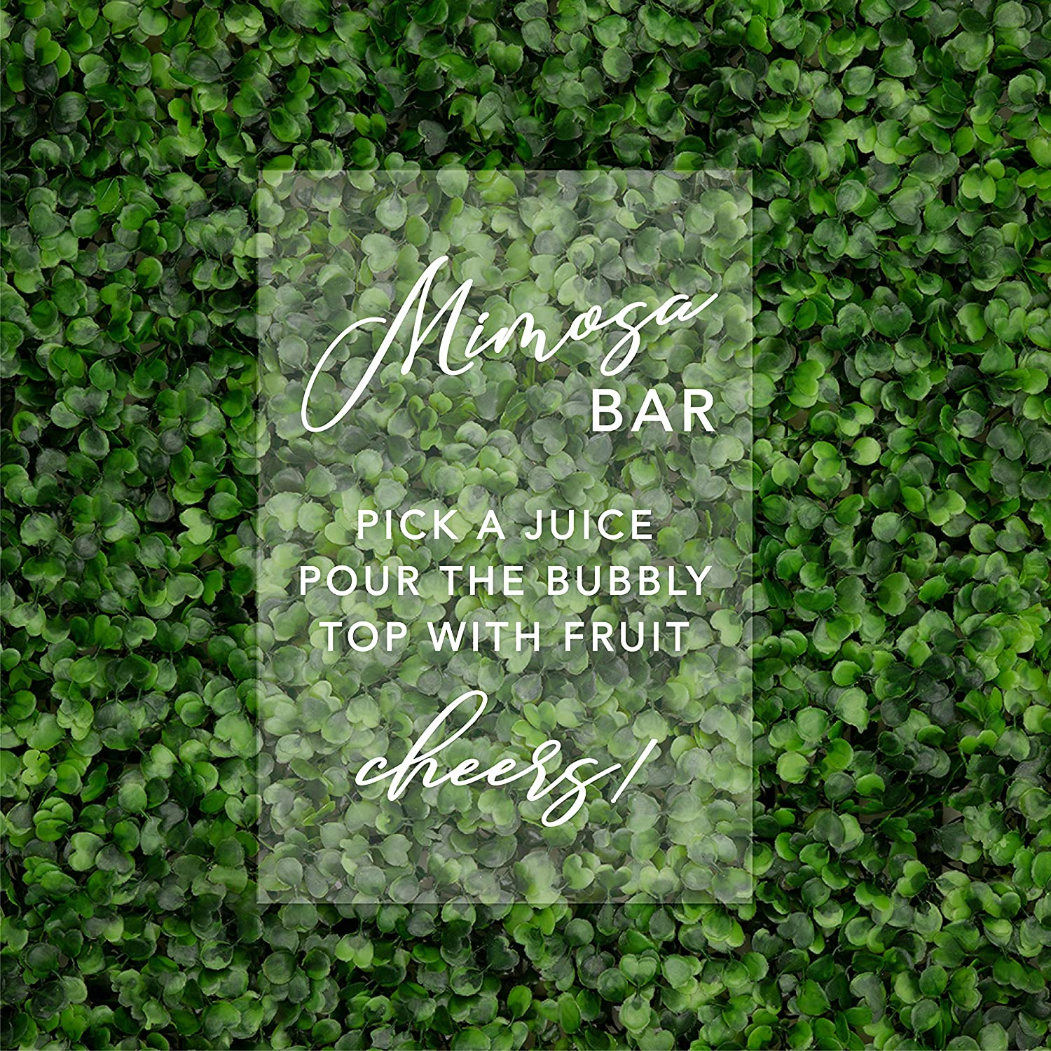 Andaz Press Bombing free shipping Mimosa Bar Acrylic Sign x Inch Includ 11 Stand 7.5 Discount mail order