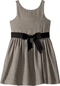 Glen Plaid Cotton Dress (Little Kids)