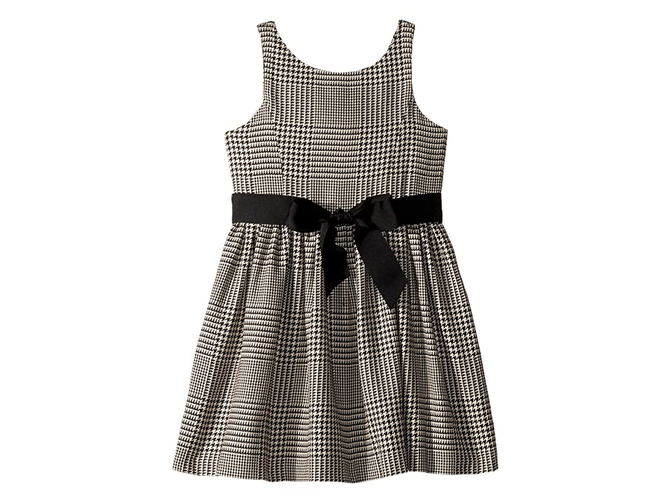 Polo Ralph Lauren Kids Glen Plaid Cotton Dress (Little Kids) (Black/Cream) Girl