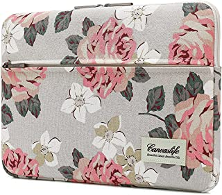 Canvaslife Pink Rose Patten Laptop Sleeve 14 inch 14.0 inch Laptop case Bag