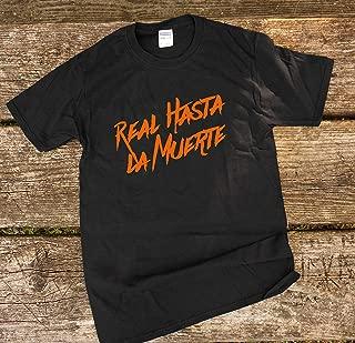 Black Real Hasta La Muerte Orange Shirt Free Aunel Shirt Real Hasta La Muerte Anuel Aa Merch Rey Del Trap Bad Bunny