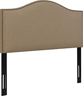 Ravenna Home Upholstered Headboard with Nailhead Trim, Queen, 61.8