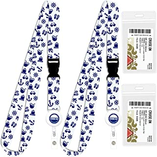 Cruise Lanyard for Ship Cards | 2 Pack Cruise Lanyards with ID Holder, Key Card..