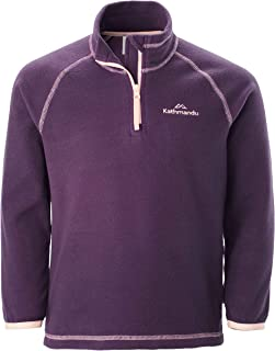 Kathmandu Ridge Kids' Boys' Girls' 2-6 Years Warm 1/4 Zip Fleece Jacket Pullover