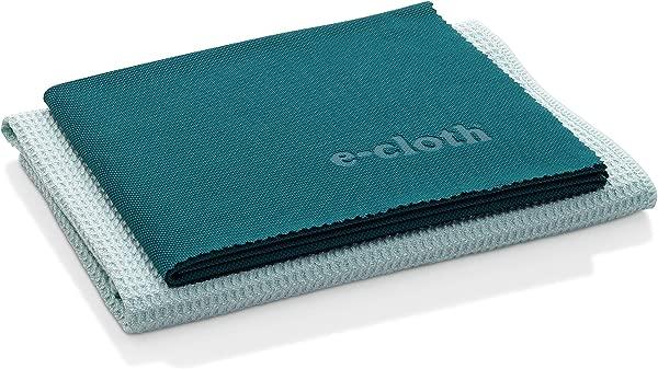 E 布窗户清洁包超细纤维玻璃擦洗布抛光布 2 件套