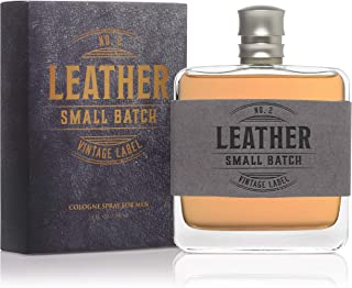 Leather No. 2 Small Batch Vintage Label by Tru Fragrance and Beauty - Authentic Fragrance Perfume for Men - Bold Masculine Scent - Woody Notes - 3.4 oz