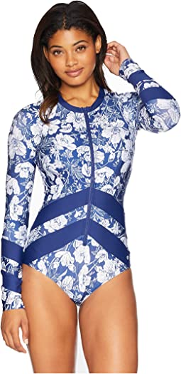 Zen Garden Long Sleeve Malibu One-Piece