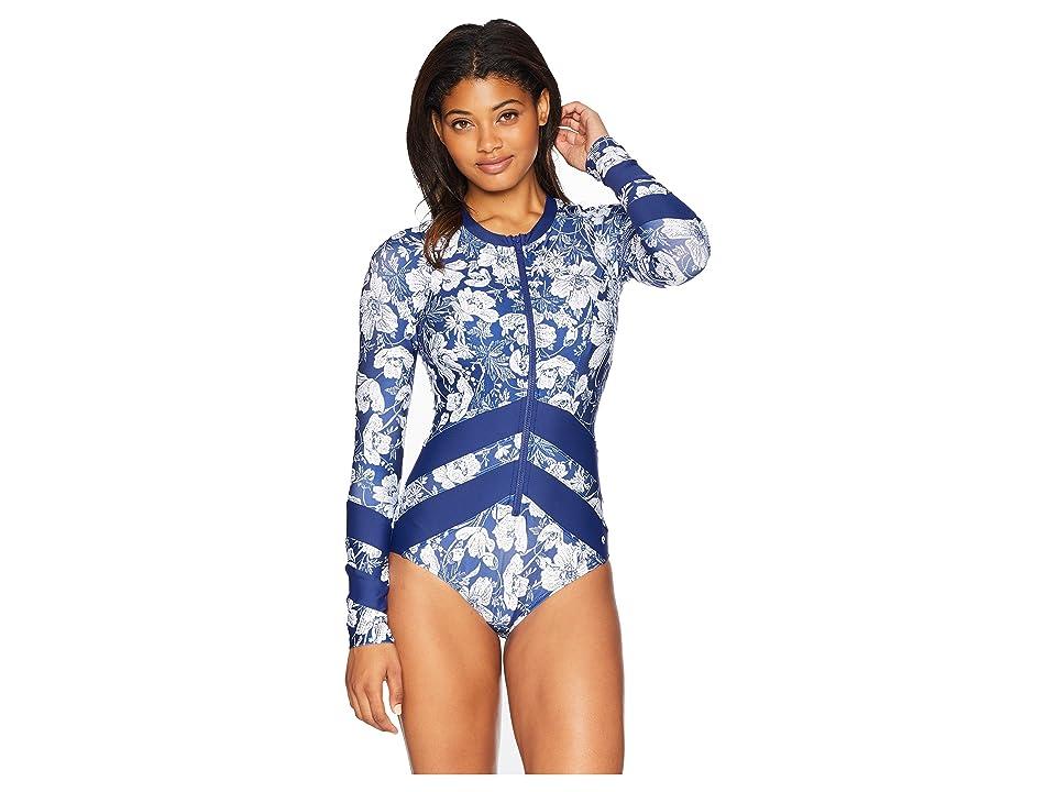 Next by Athena Zen Garden Long Sleeve Malibu One-Piece (Navy) Women