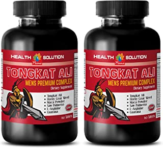 muscle enhancer for men - TONGKAT ALI MENS COMPLEX - horny goat weed chewable for women - 2 Bottles (120 Tablets)