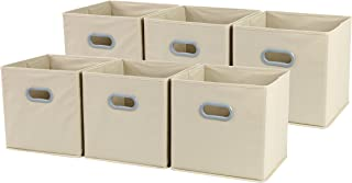 Sodynee New Large Foldable Cloth Storage Cube Basket Bins Organizer Containers Drawers, 6 Pack, 12