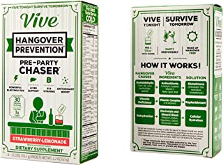 VIVE for Hangovers - Liver Detox, Hydration & Nutrient Replenishment Supplement - Electrolytes, B-Vitamins, Antioxidants - 6 Packets