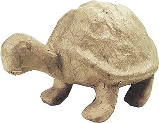 d茅copatch Mache Turtle, 16 x 9.5 x 10 cm, Brown