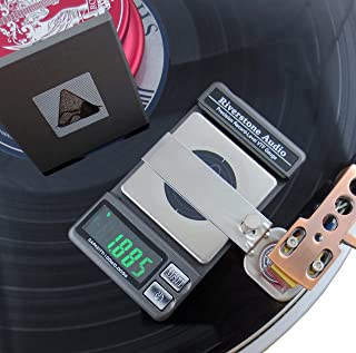 Riverstone Audio Record-Level Turntable Stylus Tracking Force Gauge / Scale, 0.005g Resolution, Measures VTF at Correct LP Record Level Height (2 mm to 3 mm) Color: Graphite