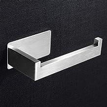 Aikzik Toiletpapierhouder, zonder boren, zelfklevende toiletpapierhouder, roestvrij staal, wc-papierhouder, wc-houder, rol...