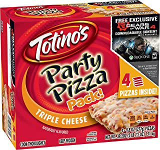 Totino's Triple Cheese Party Pizza Pack, 39.2 oz (Frozen)