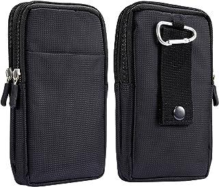 "Cell Phone Belt Clip Bag Men, Cell Phone Waist Belt Holder Men, 6.9"" Small Universal Case Smartphone Holster with Belt Loo..."
