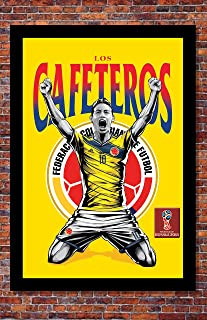 2018 World Cup Soccer Russia | TEAM COLOMBIA Poster | 13 x 19 inches
