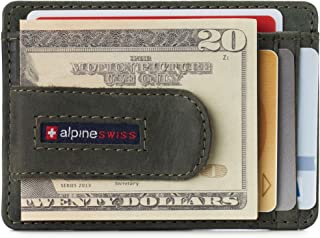 Alpine Swiss RFID Dermot Money Clip Front Pocket Wallet For Men Leather