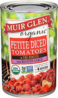 Muir Glen Organic Fire Roasted Petite Diced Tomatoes With Roasted Garlic, 14.5oz