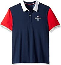 Tommy Hilfiger Men's Adaptive Seated Fit Polo Shirt with Adjustable Closure