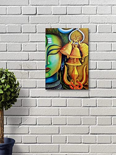 Wall Attraction Mahadev Shiva MDF Framed Painting for Home Decoration Gifting 3D Unique 8 inch x 12 inch Wall Hanging