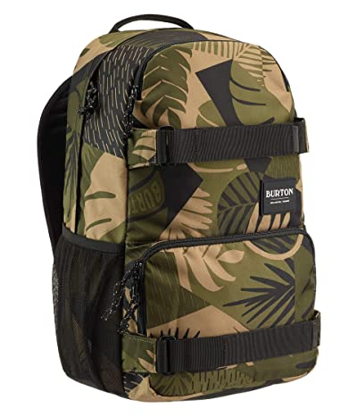 Burton Treble Yell Pack (Martini Olive Woodcut Palm) Backpack Bags