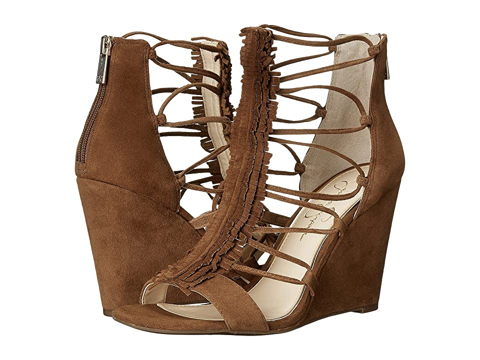 Jessica Simpson Beccy (Canela Brown Luxe Kid Suede) Women