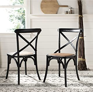 Safavieh American Homes Collection Franklin Farmhouse X-Back Hickory Side Chair (Set of 2)