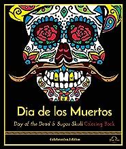 3dRose ph/_28875/_1 Day of The Dead Skull Dia De Los Muertos Sugar Skull Blue Yellow Black Scroll Design-Tile Pen Holder 5-Inch