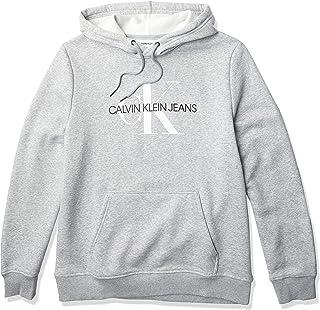 Calvin Klein Men's Fleece Hoodie Logo Pop Over Sweatshirt Shirt