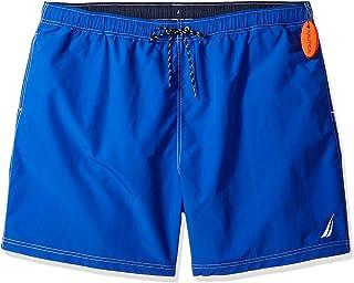 e54a42abf6f27 Nautica Men's Big and Tall Solid Quick Dry Classic Logo Swim Trunk