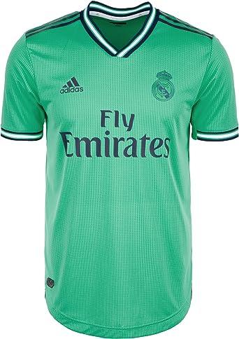 adidas Real Madrid Tercera Equipación Authentic 2019-2020, Camiseta, HI-Re Green-Night Indigo