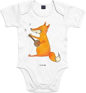 Mr. & Mrs. Panda Mr. & Mrs. Panda Babysuit, Strampler, Baby Body Fuchs Gitarre - Farbe Transparent